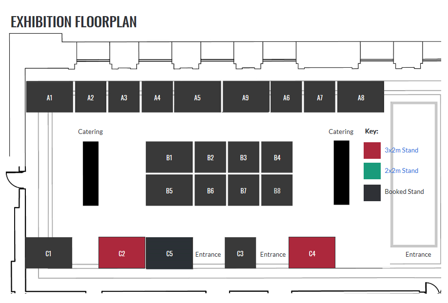 Event Floorplan description. B8 REPLICATE project stand.