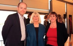 Mark Thomas with Cllr. Barbara Janke, Leader of Bristol City Council and Jan Ormondroyd, the Chief Executive. (Courtesy of Bristol CC)